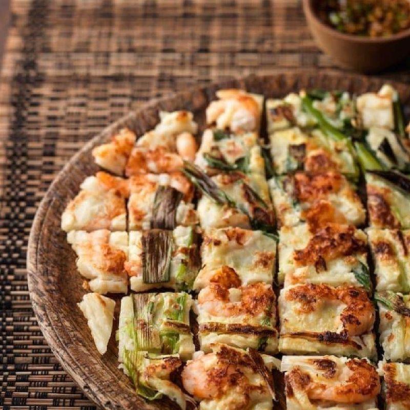pajeon (seafood and green onion pancake)