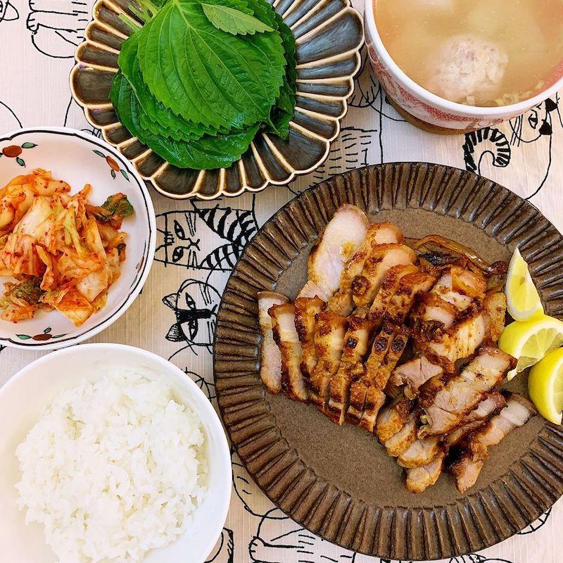 samgyeopsalgui (grilled pork belly)